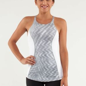 Lululemon virtuous tank in cream with pink…